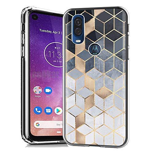 Yoedge Motorola One Vision Hülle, Silikon Transparent TPU Schutzhülle Handyhülle mit Muster Motiv Hülle Superdünn Stoßfest Rückschale Tasche Weiche Back Cover Motorola One Vision 6,3