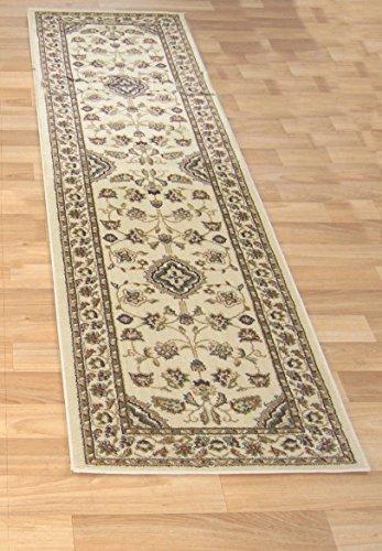 """Alfombra larga, moderna, tradicional, peluda para pasillo, alfombra camino de pasillo en múltiples colores, polipropileno, Sherborne Beige, 60 x 230 cm (2' x 7'7"""")"""