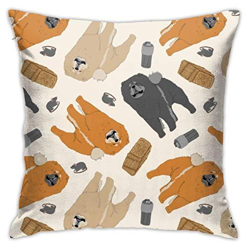 Barn HuntingCushion - Funda de almohada cuadrada de algodón y lino, color blanco, 45,7 x 45,7 cm
