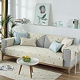 fundas sofa chaise longue,Funda fina de sofá de tela de 1/2/3/4 plazas, tapete antideslizante para niños, fundas para la mesita de noche, reposabrazos, cojín de chenilla estampado. Funda deslizante