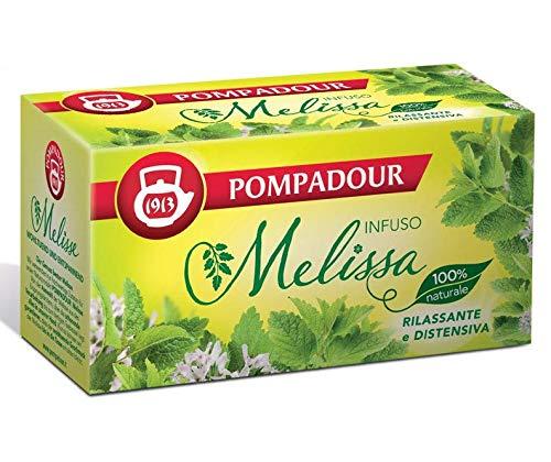 Pompadour 1913 Infusión de bálsamo de limón con verbena relajante y calmante 100% natural - 1 x 20 bolsitas de té (36 gramos)
