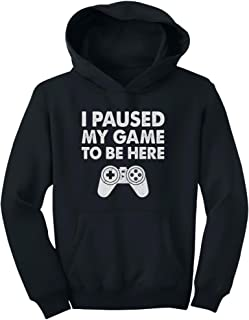 Tstars - I Paused My Game to Be Here Funny Gift for Gamer Youth Hoodie