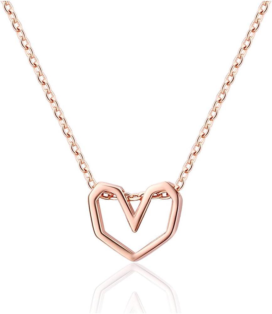 Helen In stock de Lete Minneapolis Mall Minimalist Heart Collar Sterling Neck Shape Silver