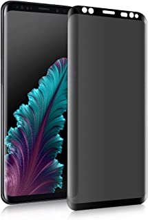 Galaxy S8 Privacy Anti-Fog Tempered Glass Screen Protector [Upgrade Version] [no Bubble] 9H Hardness Scratch-Resistant, Suitable for Samsung Galaxy S8