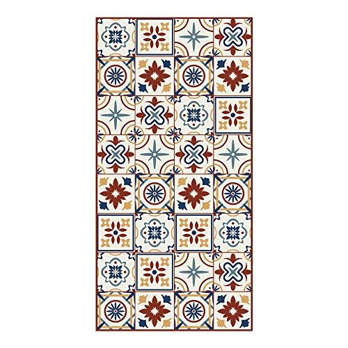 DON LETRA Alfombra Vinílica de Baldosas para Salón y Cocina, 160 x 80 cm, Antideslizante y Lavable, Grosor de 2 mm, Color Beige, ALV-038