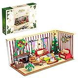 CALEN Modelo de bloques de construcción de casa de Navidad, 1208 piezas calendario de Adviento serie 2021, compatible con Lego