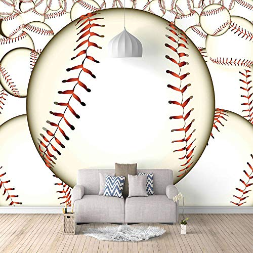 3d tapete Baseball Tapete Fototapeten Vliestapete Wandtapete moderne Wandbild Wand Schlafzimmer Wohnzimmer-140X100cm (55X39 inch)