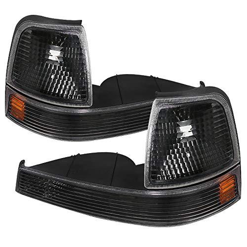Carpartsinnovate For Ford 98-00 Ranger Pickup Black Corner Lamps Turn Signal...