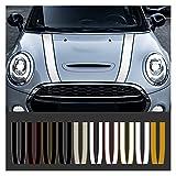 LUJING Pegatina de gorro de capucha del motor del coche Strips de las calcomanías Decoración Fit para Mini Cooper S JCW R55 R56 R60 R61 F54 F55 F56 F60 Accesorios de CountryMan (Color Name : 8)