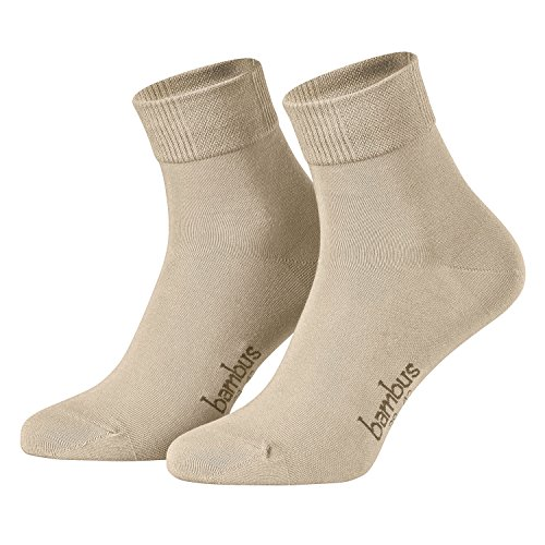 Piarini Bambus - 6 pares de calcetines cortos para hombre - Beige - 43-46