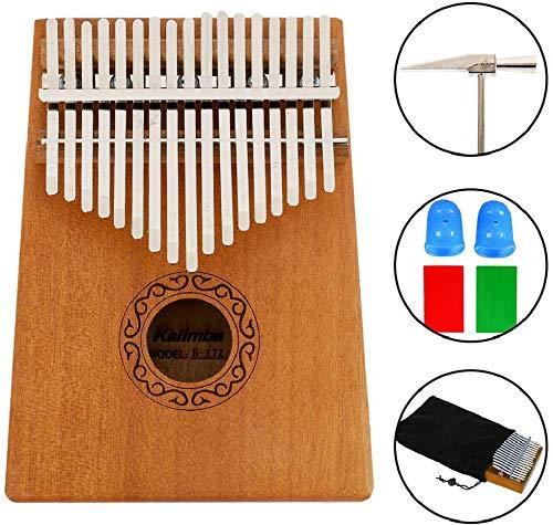 Kalimba Piano 17 llaves de pulgar profesional instrumento