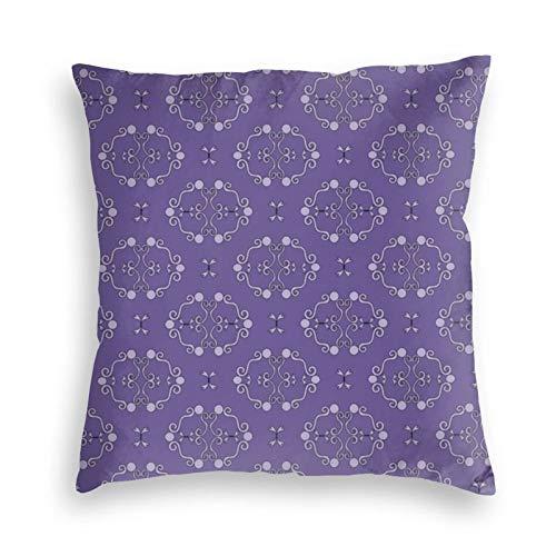 Funda de almohada cuadrada de terciopelo con patrón rococó para sofá, cama, dormitorio, sofá, 45,7 x 45,7 cm