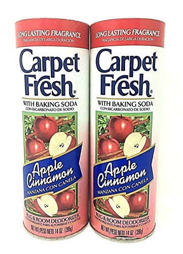 Carpet Fresh Pack of Two Rug and Room Deodorizer with Baking Soda, 14 oz. Apple Cinnamon pack of 2 Fragrance