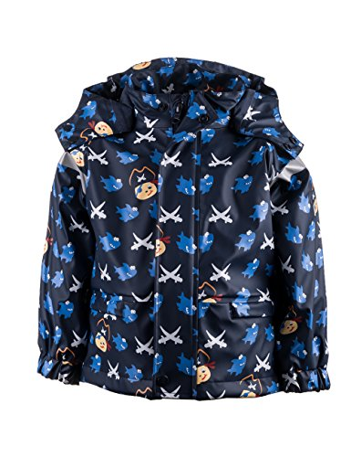 maximo Jungen Regenjacke Sharky Regenmantel, Blau (navy/aquamarine 1156), 80
