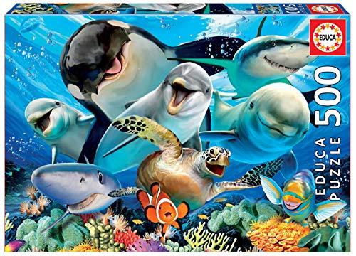 Educa - Selfies: Bajo el Agua Puzzle, 500 Piezas, Multicolor (17647)