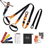 Valor Training Suspension Trainer Bodyweight Fitness Resistance Straps for Home Exercise Workout...