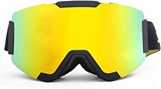 Sunglasses Fashion Accessories Ski Mountaineering Mirror Visor Removable Anti-Wind Outdoor Glasses (Color : Yellow)