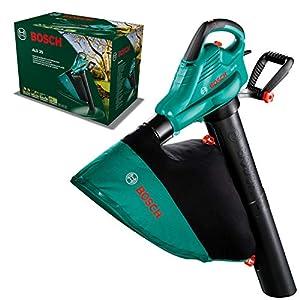 Bosch Home and Garden 06008A1100 Bosch ALS 30-Soplador y aspirador, bolsa colectora de 45 litros, correa, 3000 W, velocidad del caudal de aire: 280-300 km/h