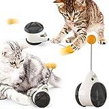 Teblacker - Giocattolo interattivo per gatti per interni, con erba gatta Balance Swing Cat Chasing Toy