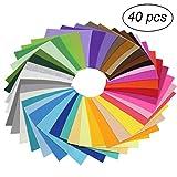 ULTNICE Bastelfilz Kinder DIY Filzstoff Bunt 40 Farben 10 x