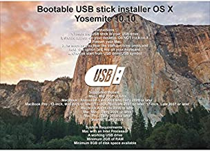 $28 » Bootable USB Stick for macOS X Yosemite 10.10 - Full OS Install, Reinstall, Recovery and Upgrade
