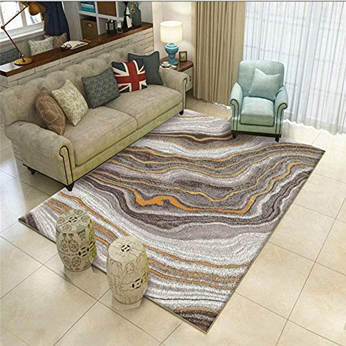Rug Carpet Area Rugs Living Room Rugs And Carpets Carpet gray orange sand pattern living room rug anti-dirty and durable Office Chair Mat Carpet Protector Multi-Size Drawing Room Rug grey 60X90CM