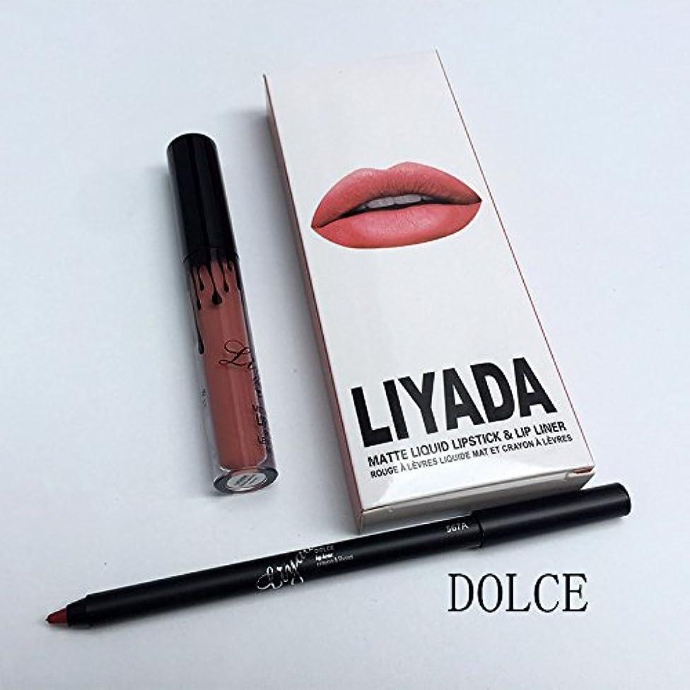 見かけ上呼吸関数LIYADA Brand liquid matte lipstick kit lips pencil lips makeup lasting waterproof Mate pen lip gloss red has lip cosmetics