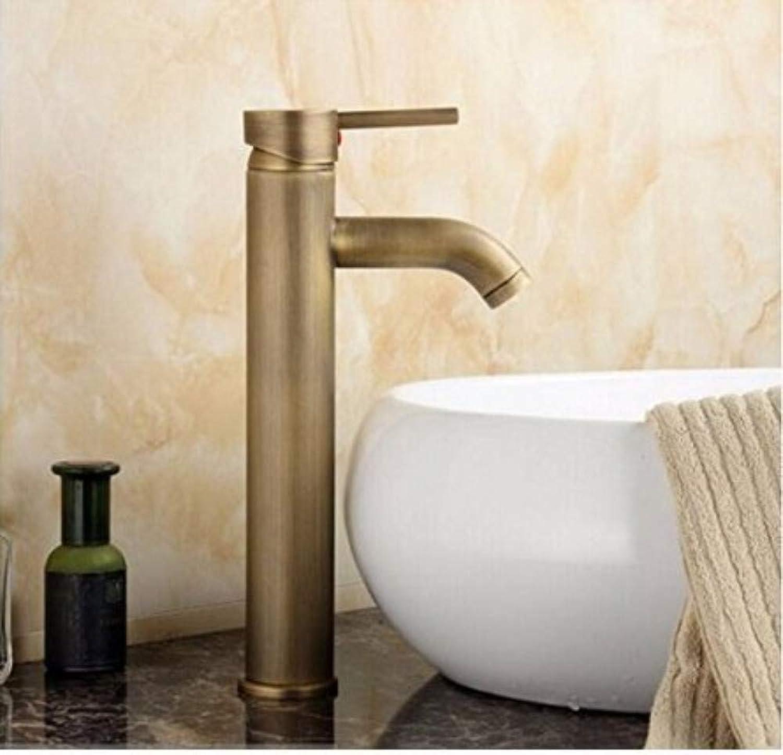 360° redating Faucet Retro Faucetbathroom Sink Taps Antique Brass Faucet Basin Deck Mounted High Faucet
