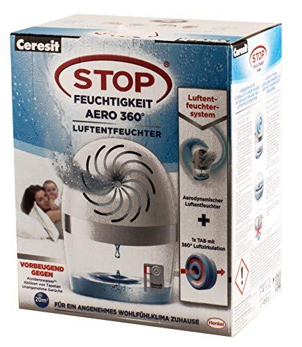 Ceresit Luftentfeuchter AERO 360 weiß Raumentfeuchter Entfeuchter Luftreiniger Trockner Dehumidifier