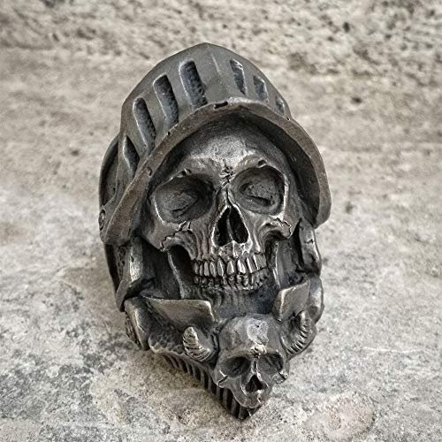 IWINO Caballero de la Muerte Negro Cráneo Anillo Cool Punk Detalle Exquisito Joyería de Jinete gótico de Acero Inoxidable 8