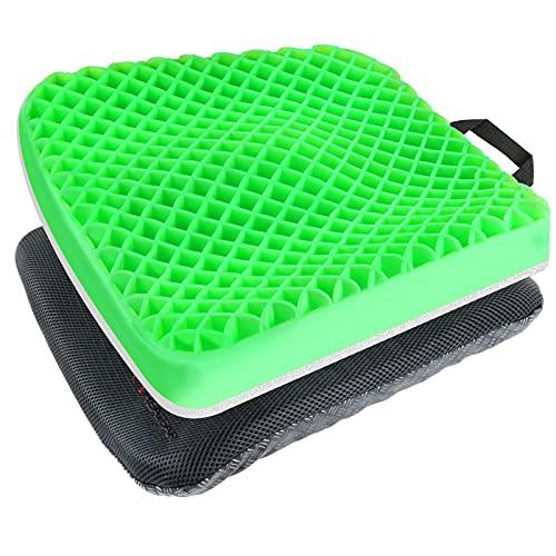 Heatfar Gel Enhanced Seat Cushion, Orthopedic Gel Memory Foam Coccyx...