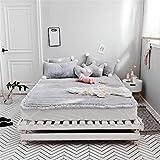 GFYL Bed Matratze, Tatami Matratze, Coral Fleece Verdicken Matratze,Single Double Folding Cushion,Single Double Matratze Für Home Schule Kabine,D,71.0'X79'