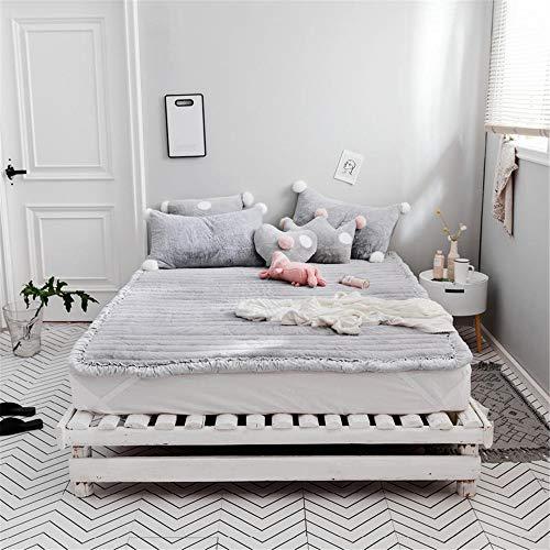 """GFYL Bed Matratze, Tatami Matratze, Coral Fleece Verdicken Matratze,Single Double Folding Cushion,Single Double Matratze Für Home Schule Kabine,D,71.0\""""X79\"""""""