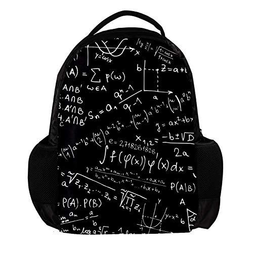 Fórmula de Pizarra Mochila Escolar con Doble Cremallera