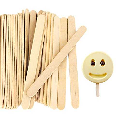 "Acerich 200 Pcs Craft Sticks Popsicle Sticks Ice Cream Sticks 4-1/2"" Length Treat Sticks"