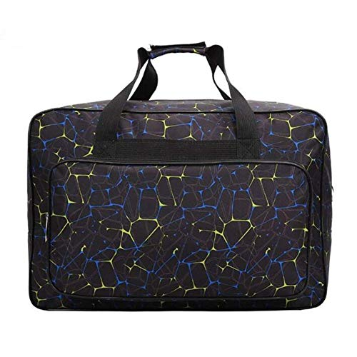 Bolsa de almacenamiento de nailon universal para máquinas de coser, bolsa de transporte de gran capacidad, con bolsillos y asas, para suministros de viaje en casa negro