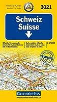 Strassenkarte Schweiz ACS 1:275 000 Ausgabe 2021 Laufzeit bis 2025: 1:275 000, Offizielle Strassenkarte Automobilclub der Schweiz mit 10 Stadtplaene