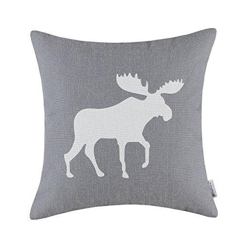 forcoolstore color gris fresco de alce sombra manta funda de almohada Funda de cojín