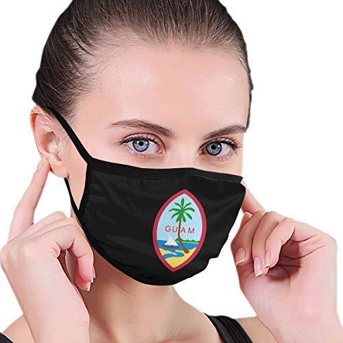 Guam Amerikaanse vlag mannen Womens kinderen tieners afdrukken polyester anti-stof herbruikbare gezichtsbescherming cirkel lus sjaals partij oor