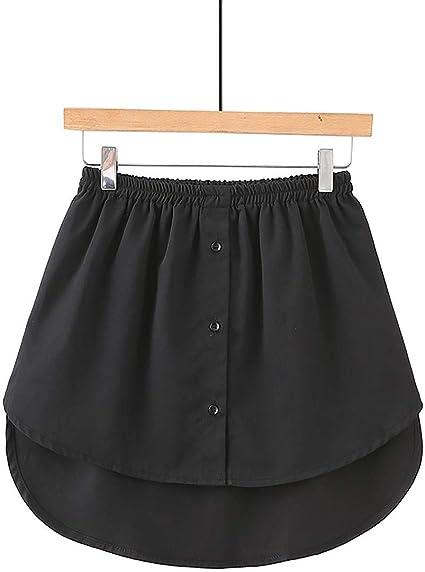 Extensor de Camisa de Falda Salvaje de Moda - Mini Camisa de Falda extendida, Falda de Capa Ajustable, Falda de Conjunto de Barrido Inferior Superior ...