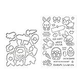 AIUI - Plantilla para troquelado de tarjetas de papel, diseño de conejo