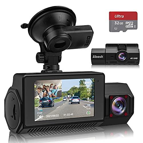 Abask Dashcam Auto Vorne Hinten 4K GPS...