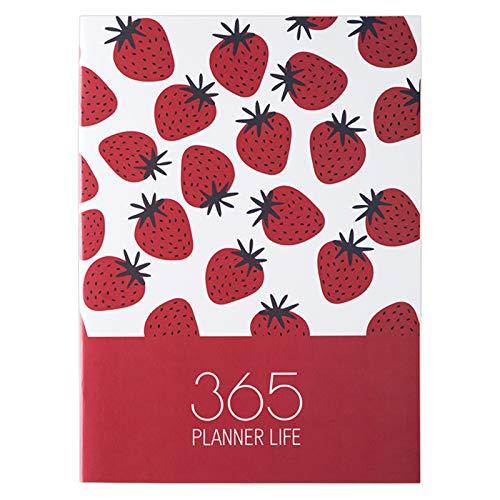 lijun Agenda 2021 Planificador Organizador Cuaderno A4 Diario Planificador Diario mensual Escuela