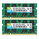 DUOMEIQI 4GB Kit (2X 2GB) 2RX8 PC2-6300 PC2-6400 PC2-6400S DDR2 800MHz SODIMM CL6 200 Pin 1.8v Non-ECC Unbuffered Laptop-Speicher für Intel AMD & MAC