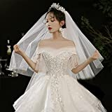 Take The Gauze Bride Main Wedding White Long Champagne traven, The Mountain, Marriage Retro Taking Pictures (Color : 2, Size : 175cm)