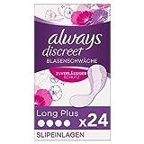 Always Discreet Inkontinenz-Slipeinlagen Long Plus (24 Binden) dünn & flexibel für diskreten Schutz bei leichter Blasenschwäche