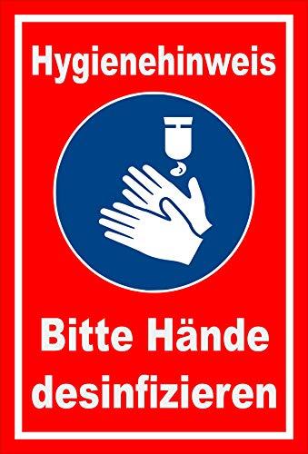 Melis Folienwerkstatt Aufkleber Hände desinfizieren - 15x10cm – 20 VAR S00225-038-D