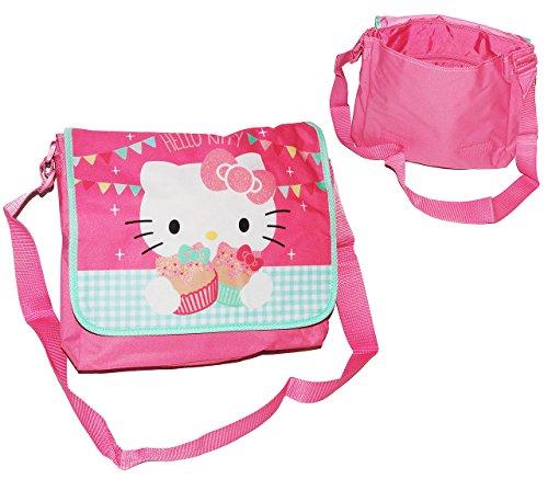 alles-meine.de GmbH Umhängetasche / Schultertasche - Katze - Hello Kitty - für Kinder - Kind Mädchen Pferd Kindergartentasche Tragetasche - Kinderhandtasche Messenger Bag z.B. fü..