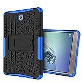 XITODA Funda para Galaxy Tab S2 8.0, Armour Hybrid Dual Layer Armor Duro Cases con Stand Funda para Samsung Galaxy Tab S2 8.0 Pulgadas SM-T710 T715 T713 T719 Tablet - Azul Oscuro