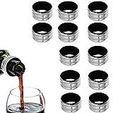 Weintropfkragen, 12 Stück Weintropfstop-Ring, Weinflaschentropfring, Weintropfring, Weintropfring, Weintropfkragenring, Weinauslaufsicherer Halsband, für Restaurant, Haushalt